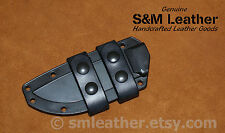 Handcrafted Black Leather Esee 4 Scout Carry Sheath Straps