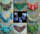 Sea Sediment Serpentine Gemstones Pendant Graduated Beads Set Necklace Jewelry