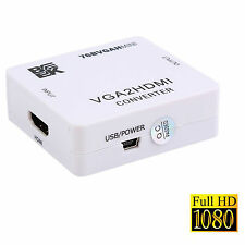 BK Mini VGA To HDMI HD 1080P HDTV Video Audio Converter Box Adapter For PC