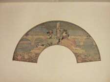 1902 STUDIO PRINT ~ FAN PAINTED ON SILK BRITISH ~ FRANK CONDER