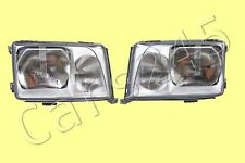 MERCEDES E-Class W124 Facelift 1993-96 Headlights Front Lamps PAIR LEFT + RIGHT