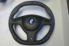 BMW custom steering wheel E46 E38 E39 E53 M3 M5 FLAT BOTTOM + TOP Thick SOFT M