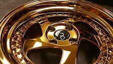 """15"""" JNC034 Wheels Whistler KR1 TMB Style 15x8 4x100 25et Gold Rims 24k SL5 SR03"""