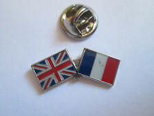 France & Uk Friendship Enamel Metal Lapel Pin  -24 x 8mm   -  L085