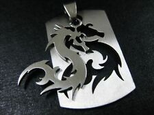 men's jewelry stainless steel amulet dragon totem pendant NG