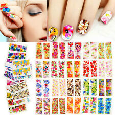 50PCS Lot DIY Flower Decals Water Transfer Manicure Nail Art Stickers Tips Decor