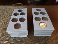 100 2x2  3 hole Penny Cent Dime Coin Holders Flips Fee Shipping USA Seller