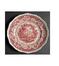 "Vintage Mason's RED VISTA 9"" Salad Plate Ironstone Made in England"