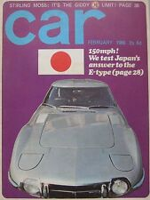 CAR 02/1966 featuring Toyota 2000GT,Ford Corsair,Hillman Super Minx, Fiat Abarth