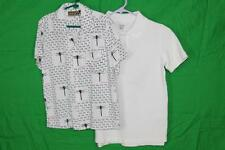 LOT of 2 Boys 8 & 8-10 French Toast SS Button Down & Cherokee White polo Shirts