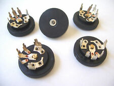 5 pcs 10K AUDIO TAPER 15mm POTENTIOMETER w/ BLACK PLASTIC KNOB / HOBBYIST / HAM