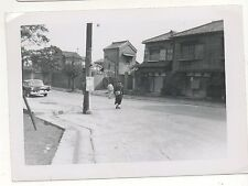 Poor Street Venders in South Korea, Korean War 1950s Vintage Black & White Photo