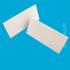 50 x Place Name Cards Blank Wedding Party White 240gsm