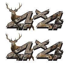 2 - 4x4 Sticker Decal for Chevy Silverado GMC Sierra Truck Offroad 2 Pack