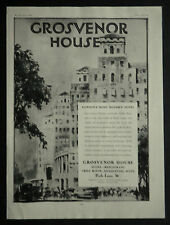 London Park Lane Grosvenor House Hotel 1929 Page Ad Advertisement 6179