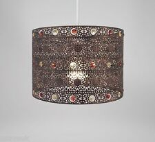Moroccan Round Ceiling Light Fitting Lamp Shade Modern Chandelier - Bronze Gem
