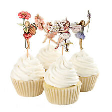 48PC HOT Flower Fairy Cupcake Topper Food Picks Cake Decor for Birthday Party RF