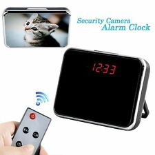 Digital Mirror video Clock Hidden Spy Camera Camcorder Motion Detection Sensor b