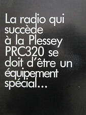 1/83 PUB 3 PAGES PLESSEY ELECTRONIC SYSTEMS COMMANDER PRC 420 RADIO HF FRENCH AD