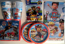PAW PATROL - Nick Jr. - Birthday Party Supply Pack Kit w/ Balloons