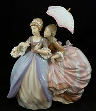 LLADRO LARGE RETIRED FIGURINE #5700 SOUTHERN CHARM LADIES W/ UMBRELLA RARE MINT