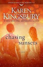 Chasing Sunsets Angels Walking Series Book 2 Christian Karen Kingsbury FREE SHIP