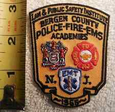BERGEN COUNTY FIRE DEPARTMENT PATCH (FIRE, STATE POLICE, EMS, SHERIFF)