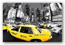 TRAVEL POSTER Rush Hour Times Square Yellow