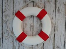 "10"" Lifering Buoy ~ Red & White ~ Life Ring Preserver Float ~ Nautical Decor"