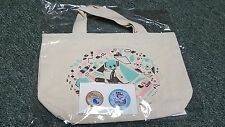 Hatsune Miku Vocaloid- Tote Bag & Pin Set- Japan Import