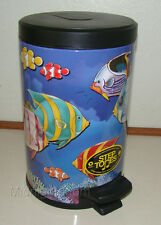 STEP TONES - MUSICAL Saltwater Fish BUBBLE SOUND Garbage Trash Can - STEPTONES