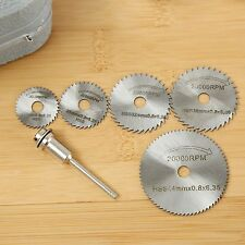 6pcs HSS Metal Circular Saw Disc Wheel Blades Cut off Dremel Drill Rotary Tool