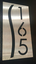 Custom HOUSE/DOOR NUMBER SIGN PLAQUE Laser Stainless Steel Hotel Strata House