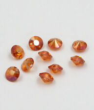 "12 pieces Swarovski 8mm side hole ""Diamond shape"" Crystal bead B Wine Red"