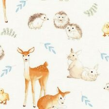 Robert Kaufman Fawns and Friends AWU 16671 14 Natural Animals Cotton Fabric BTY
