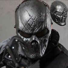 Full Face Masks Cosplay Hunting Costume Actical Military Halloween Airsoft Black