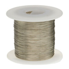 "22 AWG Gauge Tinned Copper Wire Buss Wire 100' Length 0.0254"" Silver"