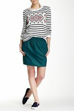 J Crew Factory - 0 - NWT - Teal Blue Wool Pull-on City Mini Skirt - Pockets
