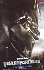 Cinema Poster: TRANSFORMERS 2007 (Advance 'Destroy' One Sheet) Shia LaBeouf