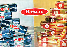 PUBLICITE  1963   BRUN  petits biscuits  THE  (2 pages)