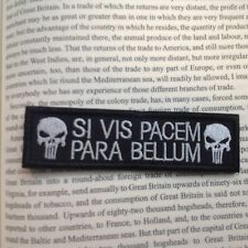 New SI VIS PACEM PARA BELLUM PUNISHER USA TACTICAL ISAF MORALE SWAT PATCH