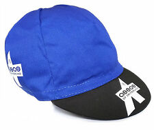 ASSOS SUMMER BIKE BICYCLES CYCLING TEAM BIKE CAP - Made in Italy -Blue
