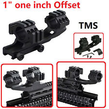 "TMS PEPR Style 1""  Inch Offset Cantilever Scope Mount Picatinny Weaver Rail"