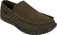 Crocs Avast Chocolate Mens 7 Canvas NWT NEW Slip-on Loafer Dress Santa Cruz