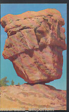 America Postcard - Balanced Rock, Garden of The Gods, Colorado Springs  RT1134