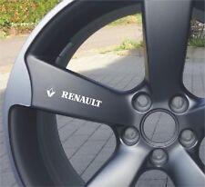 6x Renault Aufkleber für Leichtmetallfelgen Räder Emblem Logo