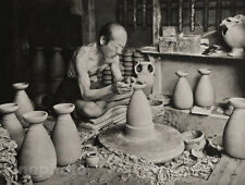 1929 OLD JAPAN Original Photo Gravure POTTERY CERAMICS Crafts Art ~ H.G. PONTING