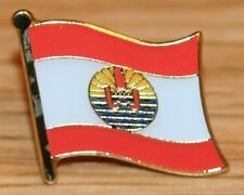 FRENCH POLYNESIA TAHITI Country Metal Flag Lapel Pin Badge