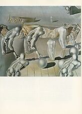 "1976 Vintage SALVADOR DALI ""INVISIBLE SLEEPING WOMAN HORSE LION Color Lithograph"
