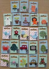 Iron on Felt Applique Motifs x 23, all different. Car, bear, flower, dog, cat &